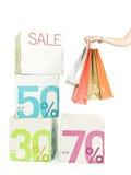toreb żeński ręki zakupy Zdjęcie Royalty Free