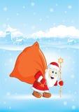 toreb boże narodzenia Claus Santa royalty ilustracja