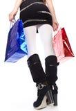 toreb butów jaskrawy wysoka utrzymań kobieta Obraz Royalty Free