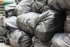 toreb czarny śmieci stos Obraz Stock