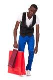 toreb czarny mienia mężczyzna zakupy Obrazy Royalty Free