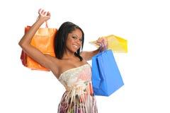 toreb czarny zakupy kobiety potomstwa Zdjęcia Royalty Free