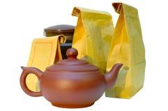 toreb gliny papieru ceramiczna herbaciana teapot cyna Fotografia Stock