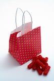 toreb kawałków lukrecj czerwony zakupy Obraz Stock