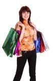 toreb kolorowy żeński ręki mienia zakupy Obrazy Royalty Free