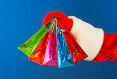 toreb kolorowy pięć ręk mienie s Santa Fotografia Royalty Free
