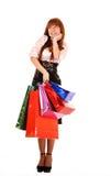 toreb koloru dziewczyny zakupy Fotografia Stock