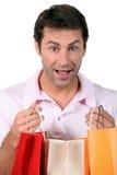 toreb mężczyzna zakupy Zdjęcia Stock
