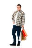 toreb mężczyzna zakupy potomstwa Zdjęcia Stock