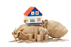 toreb monet domu zabawka zdjęcie royalty free