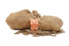 toreb pieniądze świni zabawka Zdjęcie Royalty Free
