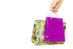 toreb ręki mienia zakupy Zdjęcie Stock