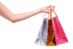 toreb ręki zakupy Zdjęcie Royalty Free