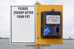 toreb zwierzęcia domowego odpady Zdjęcia Royalty Free