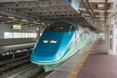 Toreiyu Tsubasa pierwszy zwiedzający szybkościowy pociąg Fotografia Stock