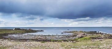 Torekov Dramatic Evening Swedish Archipelago Royalty Free Stock Images