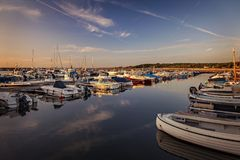 Torekov Sweden harbour Royalty Free Stock Images