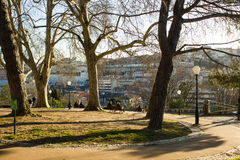 Torel Park, in the top of Santana hill, a viewpoint with excelent views over Lisbon, Portugal Stock Photo