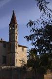 Toren aan kant van kasteel Royalty-vrije Stock Afbeelding