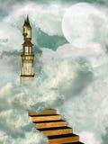 Toren in de hemel stock afbeelding
