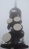 Toren in de mist Royalty-vrije Stock Foto's