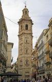 Toren en Kerk van Santa Catalina in Spaanse stad Valencia royalty-vrije stock foto's