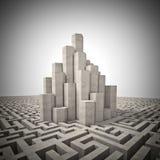 Toren en labyrint Royalty-vrije Stock Afbeeldingen
