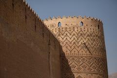 Toren en muur, Shiraz, Iran Stock Foto's