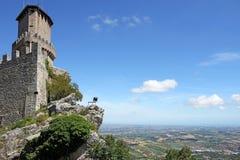 Toren en vesting San Marino Stock Afbeeldingen