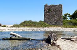 Toren ?Fonia? bij eiland Samothraki in Griekenland Royalty-vrije Stock Afbeelding