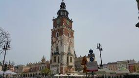 Toren in het centrum van Krakau Stock Foto