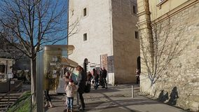 Toren Lotrscak in Zagreb stock footage