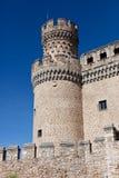 Toren. Manzanares Kasteel Royalty-vrije Stock Afbeeldingen