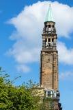 Toren met kruis op bovenkant in Edinburgh Schotland Royalty-vrije Stock Foto's