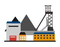 Toren op blauwe hemel Vector illustratie Royalty-vrije Stock Afbeelding