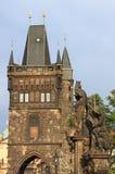 Toren op Charles Bridge, Praag Royalty-vrije Stock Afbeeldingen