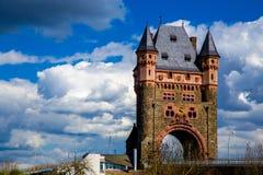Toren op de brug Stock Afbeelding