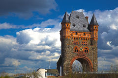 Toren op de brug Stock Foto