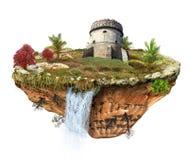 Toren op het eiland royalty-vrije illustratie