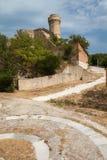 Toren op het strand (Ancona) Stock Foto