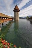 Toren op meer Stock Fotografie