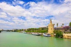 Toren Torre del oro in Sevilla, Andalusia, Spanje stock fotografie