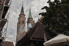 Toren twee van Nuremberg Stock Foto's