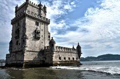 Toren van Belem HDR Royalty-vrije Stock Foto's