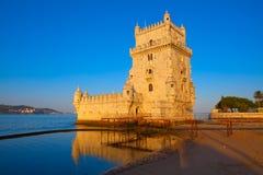 Toren van Belem, Lissabon, Portugal Stock Afbeelding