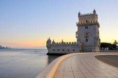 Toren van Belem (Torre DE Belem), Lissabon Stock Afbeelding