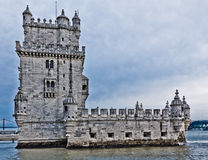 Toren van Belem (Torre DE Belem), Lissabon, Portugal Stock Afbeelding