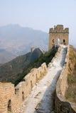 Toren van beroemde grote muur in Simatai stock foto's