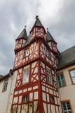 Toren van broemser hof in Ruedesheim am Rijn Stock Foto's