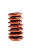 Toren van chocoladekoekjes Royalty-vrije Stock Afbeeldingen